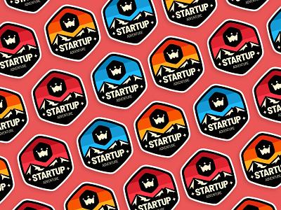 Starup Adventure - Hiking Stickers branding crew hiking illustration sticker mule stickermule sticker design stickerspub ministry startups sticker