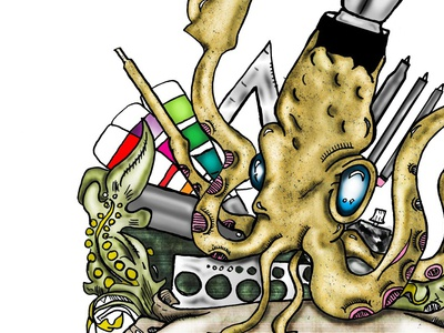 Blotch Letraset Series Illustration  illustration jeremy soles graphics squid jsoles14
