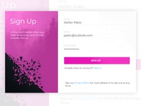 Daily UI #001 - Sign Up Modal