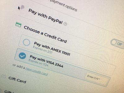 New Payment Page for Kirkland's paypal pay payment
