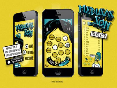Medusa's Son medusasson game iphone app illustration website