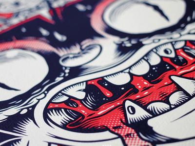 Simple Söff - detailshot screenprint illustration beer label craft exhibition show