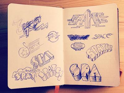 Andhim - Spayce sketch sketch moleskin type space