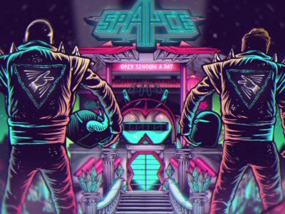 Andhim - Spayce space andhim still animation music video bar club