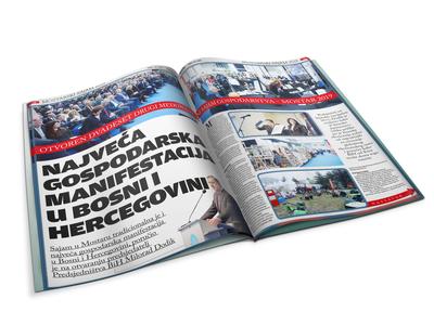 "Magazine editorial for ""Mostar fair"""