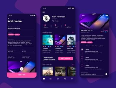 Dreams, goals app