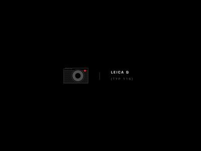 Leica Q lens photography minimal black illustration camera leica