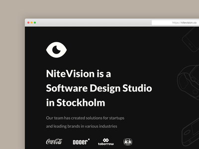 nitevision.co is live 🎉 web design agency site studio website
