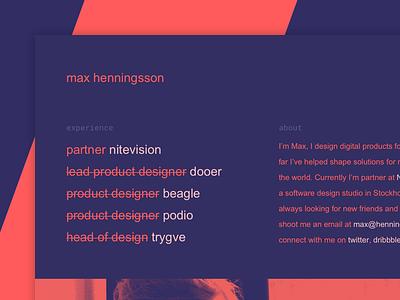 My new site ⚡️🍉 semplice designer stockholm interface ux ui portfolio website