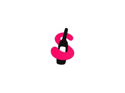 S is for.. Sauvignon? 🍇 app icon letter wine s symbol mark identity logo