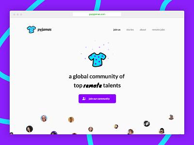 gopyjamas.com 👀 ui ux design web website