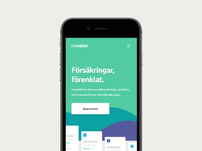 Inswallet website landing page mobile design web fintech website