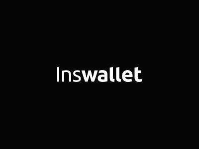 Inswallet logo wordmark logotype logo lettering identity branding