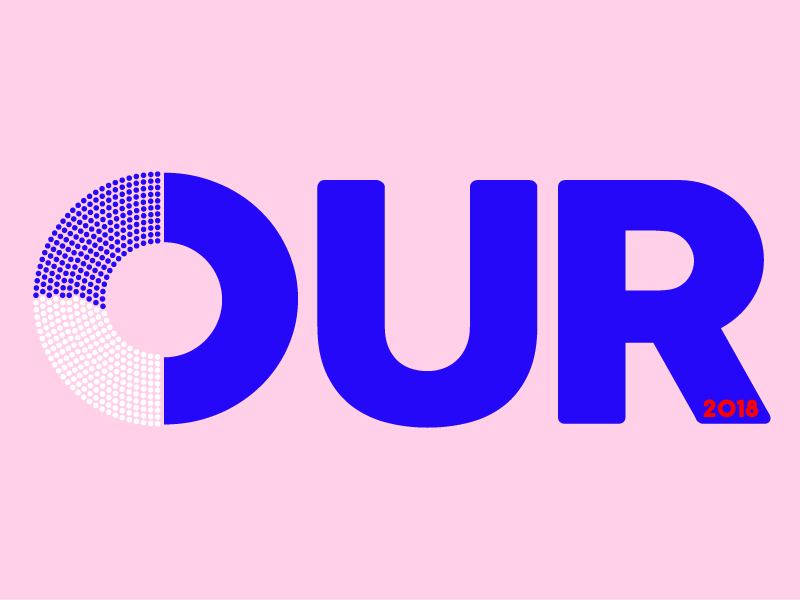 Our House. 2018 blue election day typography design house of representatives our house