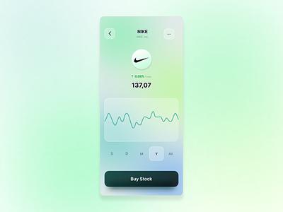 Stock App mobileapp glassmorphism figma uiux stock