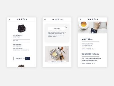 Hestia - Mobile website