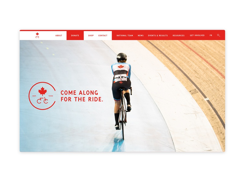 Cycling Canada - Logo & web design badge logodesign digital webdesign graphicdesign art direction logo branding