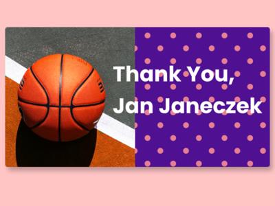 Thank you; Jan Janeczek