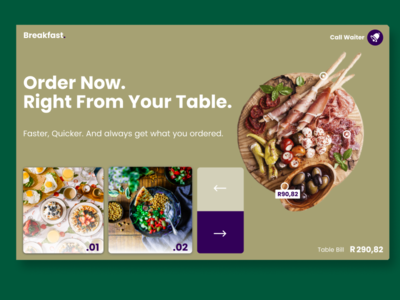Order Table Landing Page