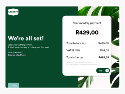 Laundro Payment Screen