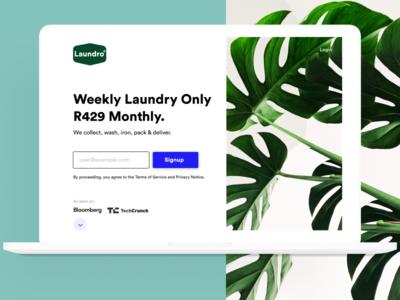 Laundro Homepage Shot