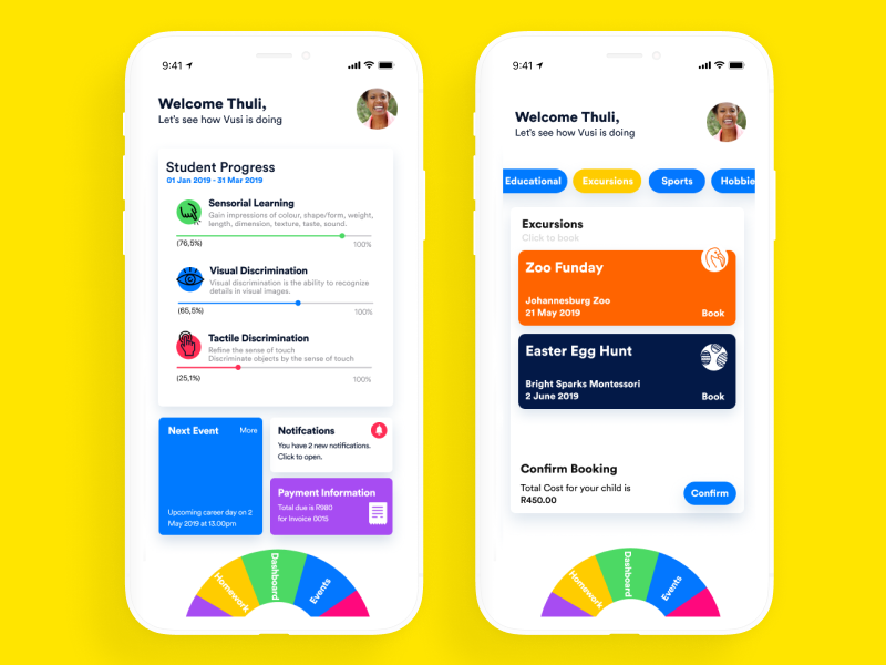 Bright Sparks Montessori App mobile clean dribbbble ux ui app design