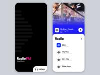 Radio Live Stream App Concept