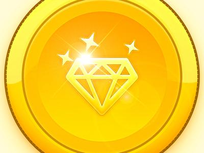 Gold Diamond Coin