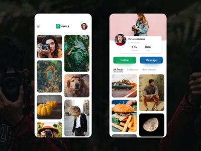 Pexels App Redesign Concept