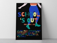 School's Out Indie Concert Poster