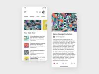 Blog App Desing ui illustration ui ux design typography animation app ui ui app ios ui design illustration