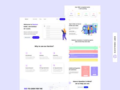 SEO Agency Landing Page Web Design