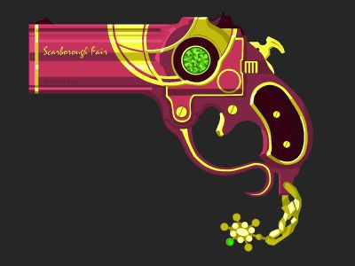 Bayonetta's Closet - Scarborough Fair video game bayonetta vector weapon illustration graphic design