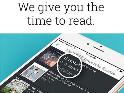 Texture Feature - Reading Time ui email app