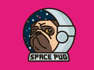Space Pug illustration icon pug vector