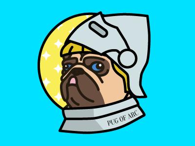 Pug Of Arc illustration icon pug vector