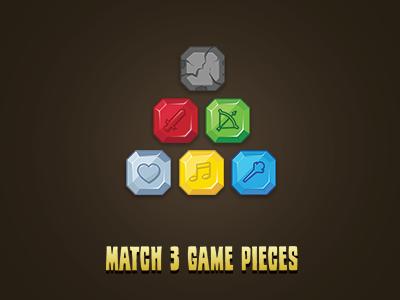 Match 3 Gem UI  match 3 game ui