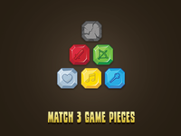 Match 3 Gem UI