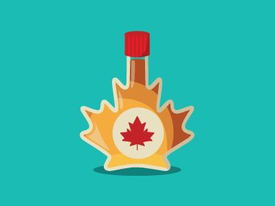 Canada Rebound! vector maple syrup icon