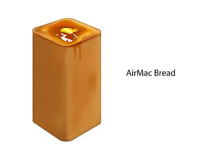 AirMac Bread illustration vector illustrator mac airmac