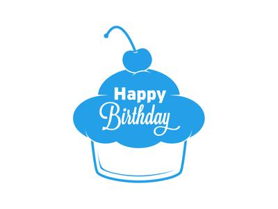 Birthday mark happy birthday cupcake