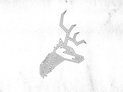 The Stag deer stag illustration game of thrones