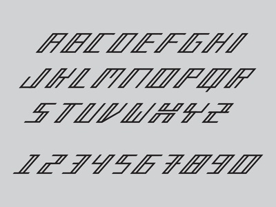 New face type letter font typeface