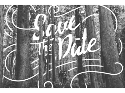 Save The Date forest type save the date wedding