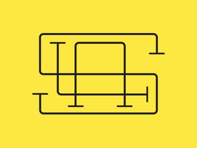 LAS monogram type initials monogram