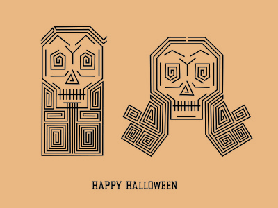 Happy Halloween skeleton skull illustration halloween