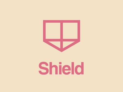 Shield logo helvetica shield
