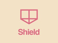 Shield logo helvetica shield