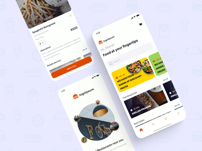 Food store mobile restaurant food app ux ui design