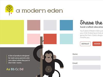 A Modern Eden Style Tile I style tile element collage sketch branding
